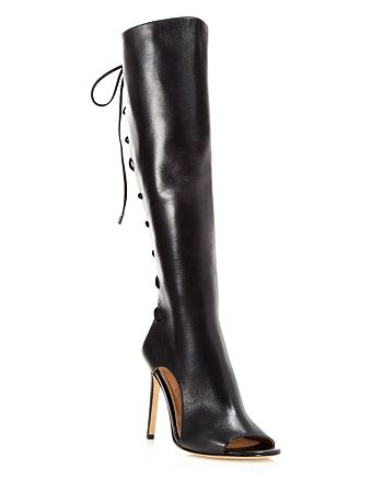 Via Spiga - Boots - Teriza Lace Back High-Heel