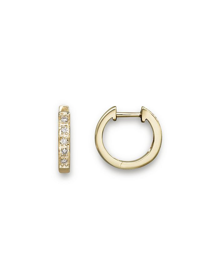 KC Designs - Diamond Mini Hoops in 14K Yellow Gold, .10 ct. t.w.