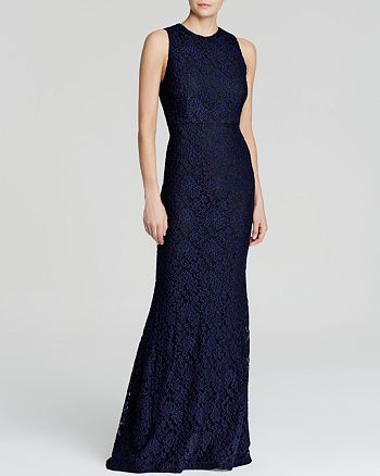 Alice and Olivia - Roxie Floral Lace Gown