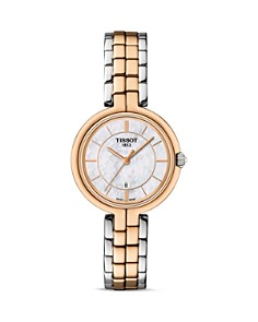 Tissot Flamingo Women's Two Tone Quartz Watch with Mother of Pearl Dial, 26mm - Bloomingdale's_0