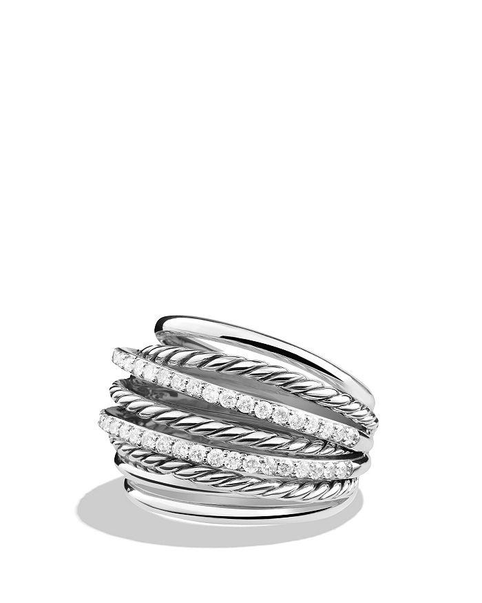 David Yurman - Crossover Dome Ring with Diamonds