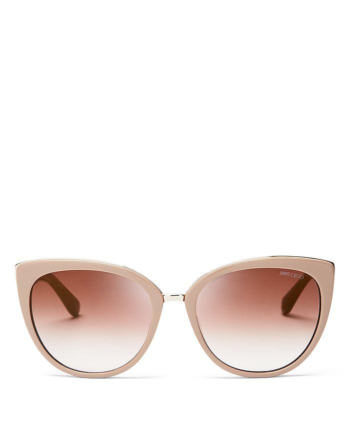 Jimmy Choo - Women's Mirrored Dana Cat Eye Sunglasses, 56mm