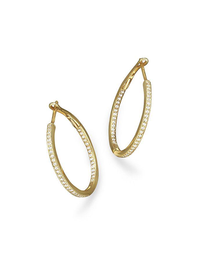 Bloomingdale's - Diamond Inside-Out Hoop Earrings in 14K Yellow Gold, .30 ct. t.w.- 100% Exclusive