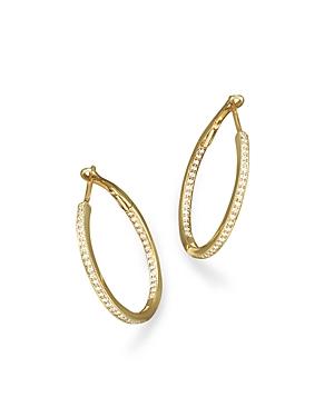 Diamond Inside-Out Hoop Earrings in 14K Yellow Gold, .30 ct. t.w. - 100% Exclusive