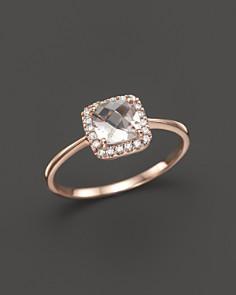 Bloomingdale's - Morganite and Diamond Ring in 14K Rose Gold- 100% Exclusive