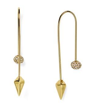 Rebecca Minkoff - Pavé Ball Threader Earrings