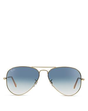 Ray-Ban Unisex Original Brow Bar Aviator Sunglasses, 62mm