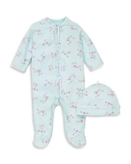 Little Me - Girls' Floral Dot Footie & Hat Set - Baby
