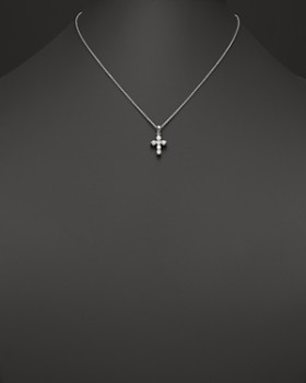 Bloomingdale's - Diamond Cross Pendant Necklace in 14K White Gold, .60 ct. t.w.- 100% Exclusive
