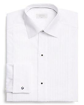 Eton - Traditional Pleated Bib Slim Fit Tuxedo Shirt