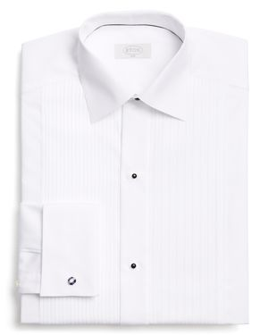 Eton of Sweden Traditional Pleated Bib Slim Fit Tuxedo Shirt