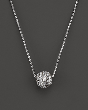 Diamond Ball Pendant Necklace in 18K White Gold, .30 ct. t.w. - 100% Exclusive