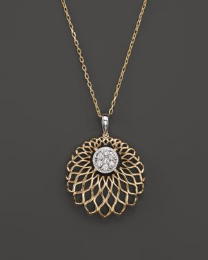 Diamond Pendant Necklace in 14K Yellow Gold, .20 ct. t.w. - 100% Exclusive