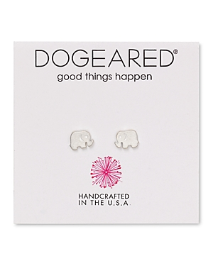 Dogeared Elephant Stud Earrings