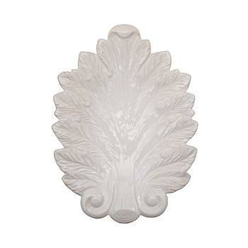 "Juliska - Acanthus Whitewash 15"" Leaf Platter"