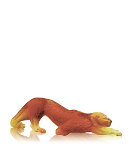 Lalique - Zeila Panther Object, Small Amber