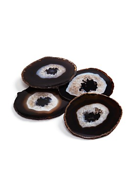 ANNA new york by RabLabs - Pedra Coasters Chocolate Set of 4