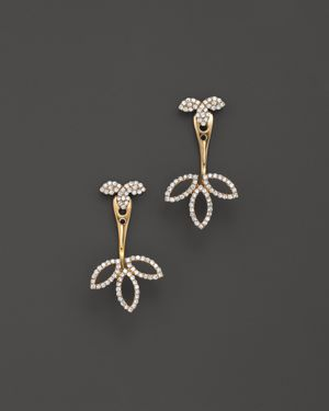 Diamond Earring Jackets in 14K Yellow Gold, .30 ct. t.w. - 100% Exclusive