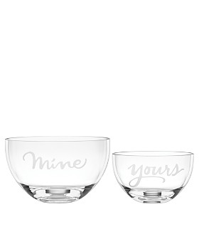 kate spade new york - Two Of A Kind Yours & Mine Bowls, Set of 2
