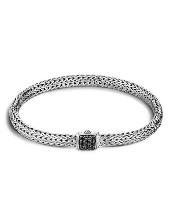 JOHN HARDY - Classic Chain Sterling Silver Lava Extra Small Bracelet with Black Sapphire