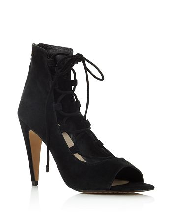 38c9a4e6ce FRENCH CONNECTION Narina Lace Up Open Toe Booties | Bloomingdale's