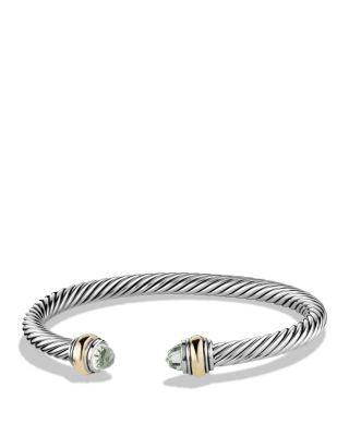 $David Yurman Cable Classics Bracelet with Prasiolite - Bloomingdale's