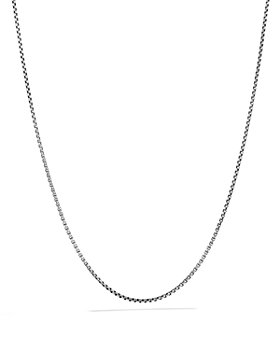 David Yurman - Box Chain Necklace with an Accent of 14K Gold, 1.7mm