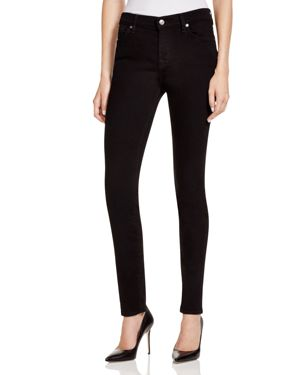 7 For All Mankind The Skinny Jeans in Washed Overdye Black