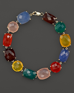 Multicolor Agate Bracelet in 14K Yellow Gold - 100% Exclusive
