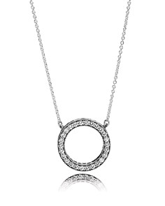PANDORA Necklace - Sterling Silver & Cubic Zirconia Hearts of PANDORA - Bloomingdale's_0