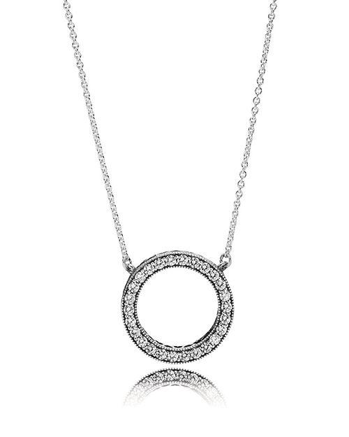 PANDORA - Necklace - Sterling Silver & Cubic Zirconia Hearts of