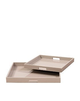 Howard Elliott - Lacquer Square Wood Tray Set