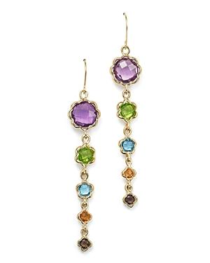 Gemstone Drop Earrings in 14K Yellow Gold - 100% Exclusive