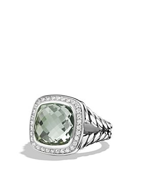 David Yurman - David Yurman Albion Ring with Prasiolite and Diamonds