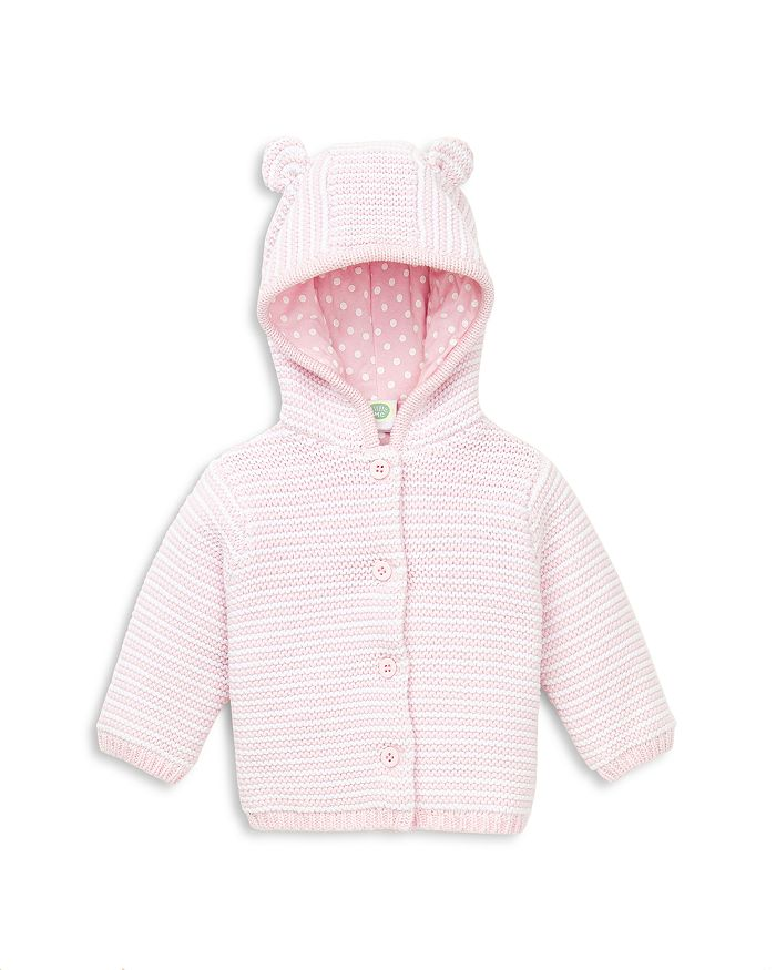 Little Me - Girls' Striped Hooded Cardigan - Baby