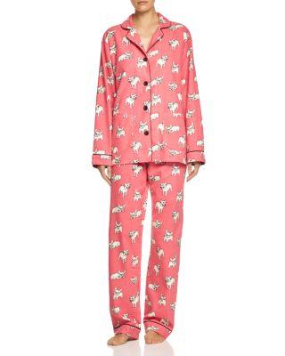 Frenchie Love Pyjama Set PJ/'s Loungewear Lounge Wear Grey and White Dog