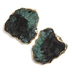 ANNA new york by RabLabs Emerald & Gold Kivita Coasters, Set of 2 - Bloomingdale's_0