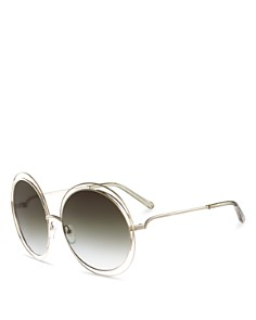 Chloé - Women's Carlina Round Oversized Sunglasses, 62mm