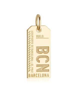 Jet Set Candy Barcelona, Spain Bcn Luggage Tag Charm