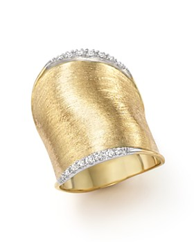 Marco Bicego - Diamond Lunaria Large Ring in 18K Yellow Gold
