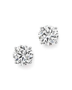 Bloomingdale's - Certified Diamond Stud Earrings in 14K White Gold, 3.0 ct. t.w. - 100% Exclusive