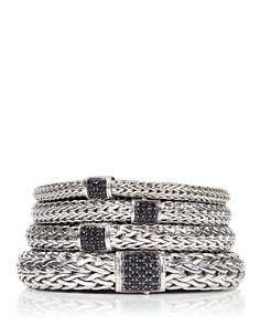 John Hardy Classic Chain Sterling Silver Lava Bracelet with Black Sapphire - Bloomingdale's_0