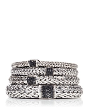 John Hardy - Classic Chain Sterling Silver Lava Bracelet with Black Sapphire