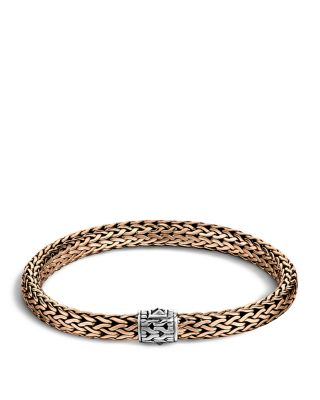 JOHN HARDY Men'S Classic Chain Silver And Bronze Medium Chain Bracelet in Silver/ Bronze