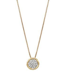 796f9aa6f373d JOHN HARDY - John Hardy Bamboo 18K Gold and Diamond Pavé Small Round  Pendant Necklace