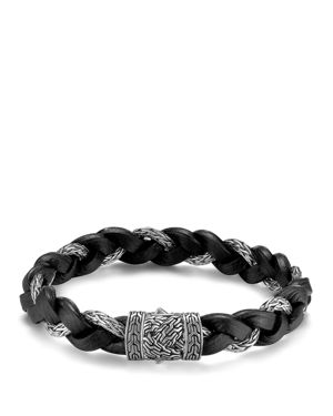 John Hardy Men's Classic Chain Braided Leather Cord Bracelet