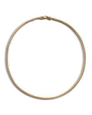 John Hardy Classic Chain 18K Yellow Gold Slim Necklace, 18
