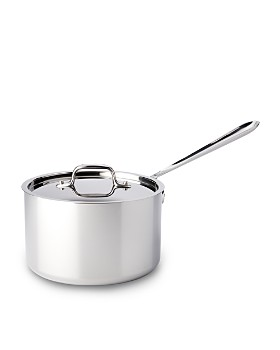 All-Clad - Stainless Steel 4 Quart Sauce Pan with Lid
