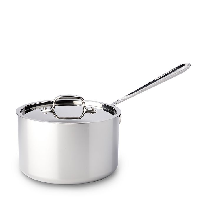 All Clad All Clad Stainless Steel 4 Quart Sauce Pan With Lid