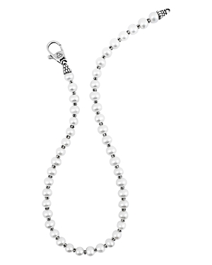 Lagos Sterling Silver Luna Pearl Necklace, 20